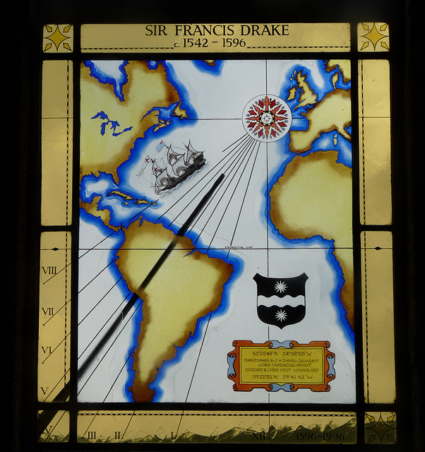 Buckland Abbey- Stained Glass Window