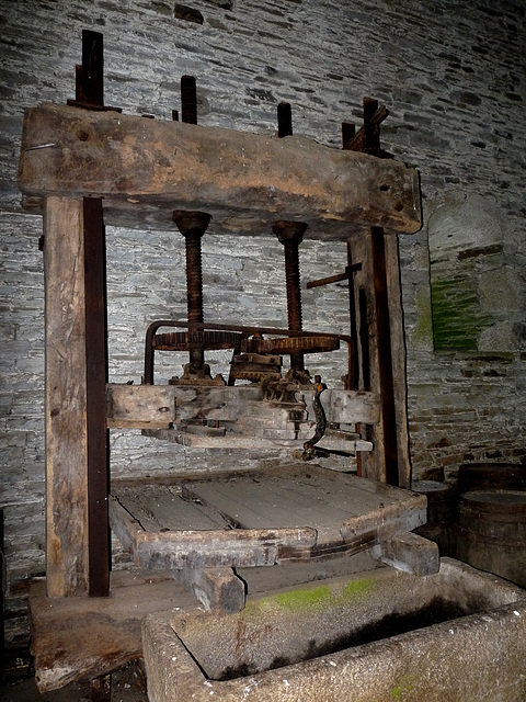 Buckland Abbey- Cider Press in the Great Barn