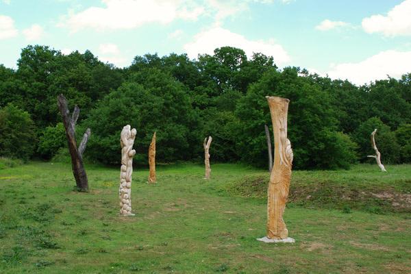 Ring of totem poles