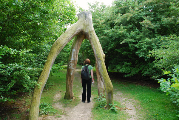 Arch over the path