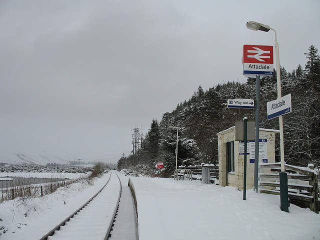 Attadale station - looking towards Strathcarron