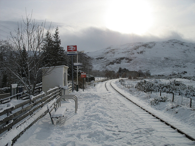 Attadale station -  looking towards Stromeferry