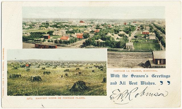 5963 - Portage la Prairie - Harvest Scene