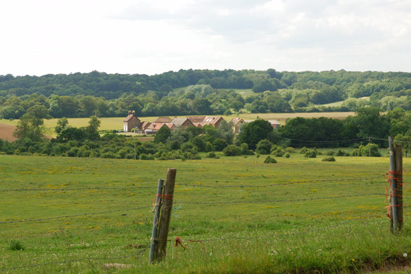 Panoramic view across the Essex countryside