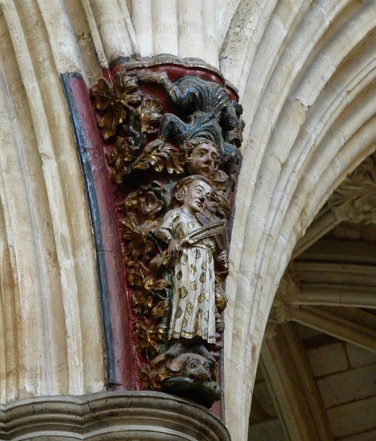 Exeter Cathedral- Polychrome Sculpture