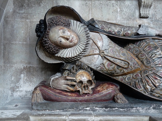 Exeter Cathedral- Detail of a Tomb