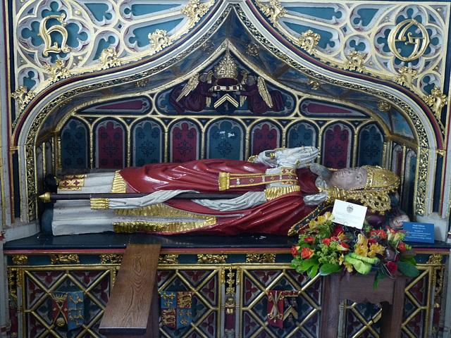 Exeter Cathedral- Tomb of Bishop Hugh Oldham, Founder of Manchester Grammar School