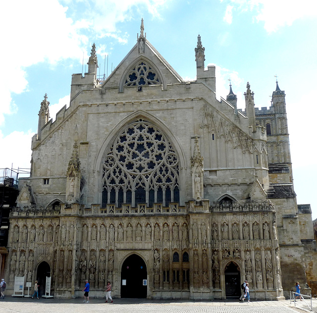 Exeter Cathedral- West Front (Gothic)