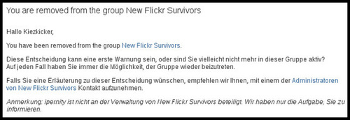 You are removed from the group New Flickr Survivors