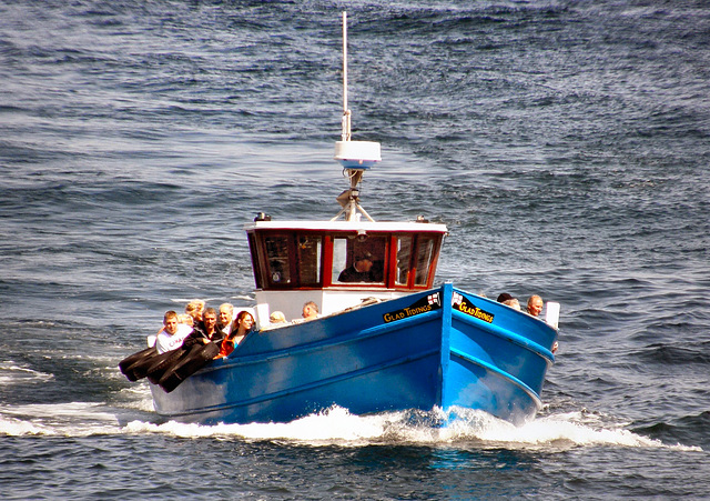 "Farne Islands ferry ""Glad Tidings""."