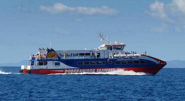 Catamaran Heading for Panormitis