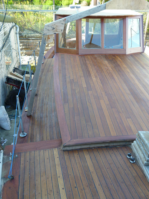 MF - new teak cabin roof