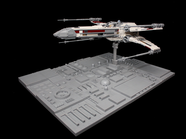 A heavily modified 7191 UCS X-wing