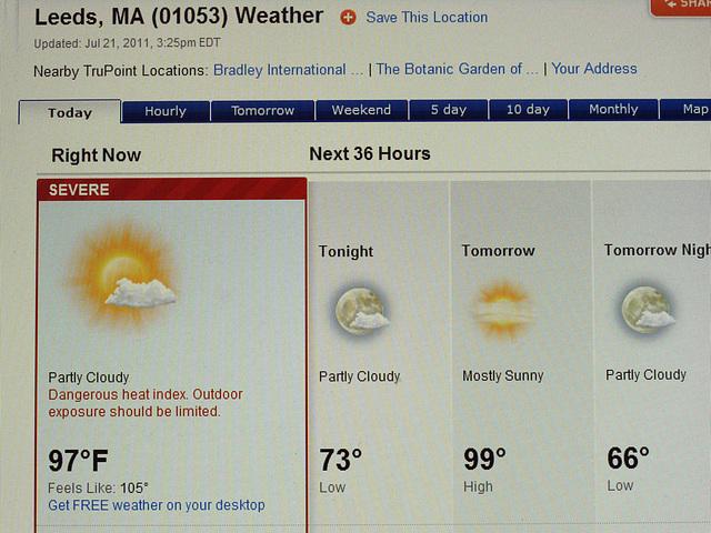 How Hot? July 21 at 3:40pm