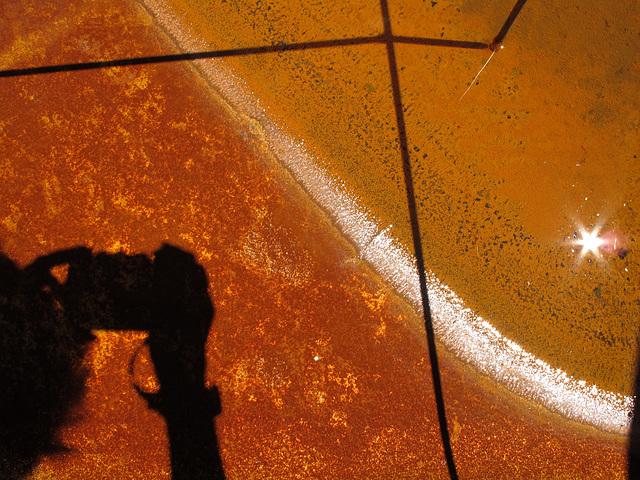 Rusty Sparkly Orangey Shadowy