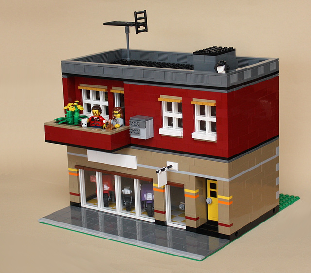 A small building (but the basis for a larger one)
