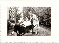 Wheelbarrow Fun, 1940s