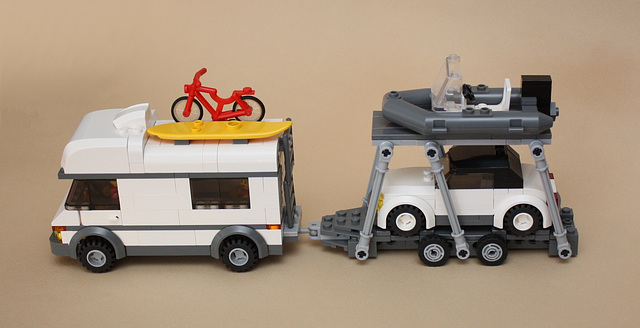 Camper with trailer