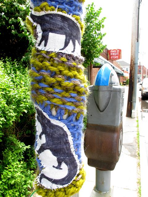 Dino Yarn Bomb