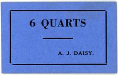 6 Quarts, A. J. Daisy