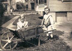 """""""Vintage People In Wheelbarrows""""..."""