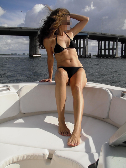 Wife on boat 3