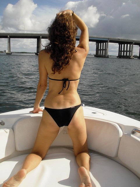 Wife on boat 2