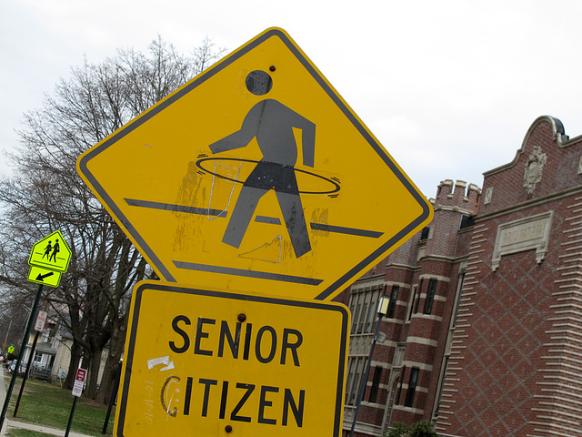 Another Hooping Senior Pedestrian Crossing