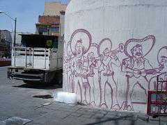 Mariachis sur mur / Wall mariachis.