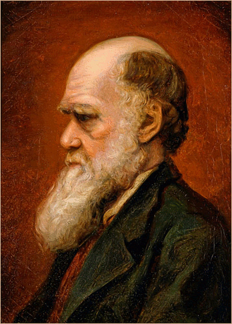 Portrait of Charles Robert Darwin by Laura Russell 1869