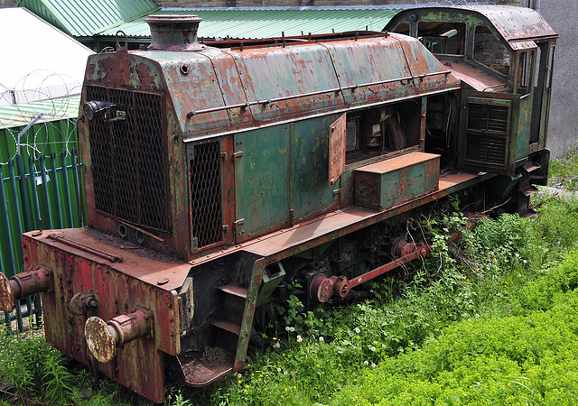 Old locomotive....R.I.P. (Rust In Peace. 2 of 2).