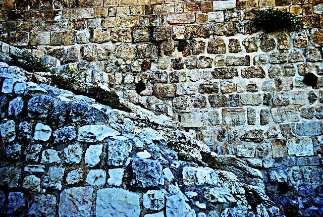The 3,000 year old wall of King David's Jerusalem
