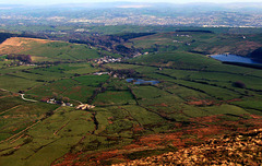 The view from Pendle Hill, looking East.