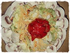 A salad!  (Iceberg lettuce)