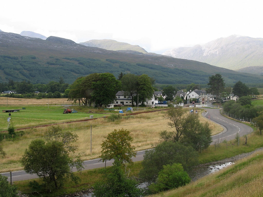 Strathcarron station from Achintee