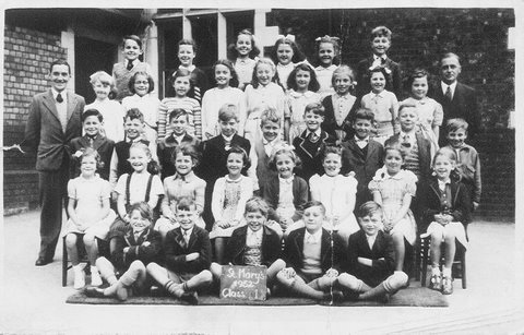 Peamasher at School in 1952 (Aged 8)