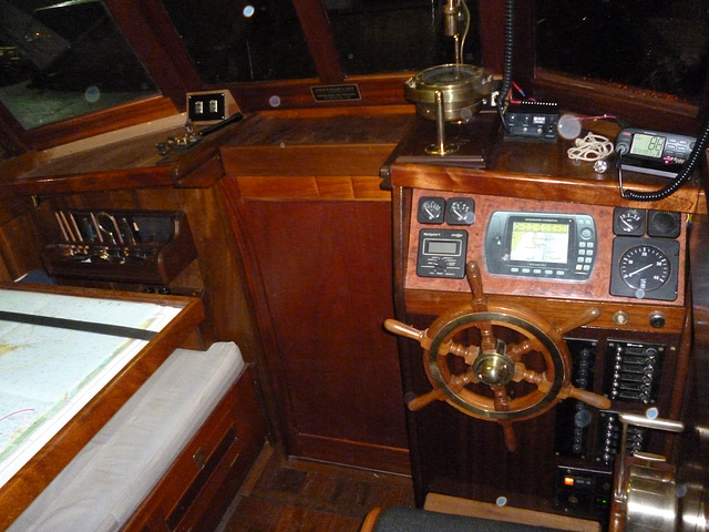 MF - helm from wheelhouse door