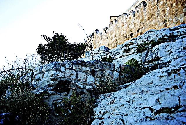 rocks of Jerusalem at dusk...