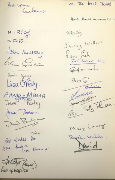 Flysheet signatures