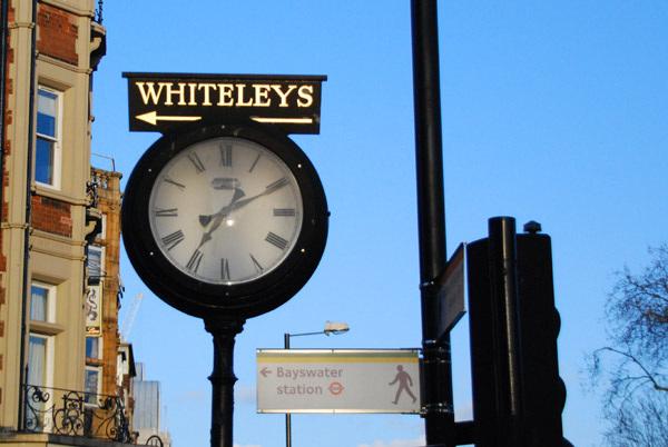 Whiteleys clock