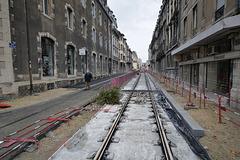 BESANCON: Travaux du tram: 2014.01.26 Avenue Fontaine Argent 01 .