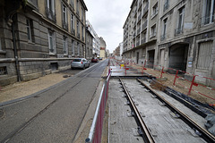 BESANCON: Travaux du tram: 2014.01.26 Avenue Fontaine Argent 02 .
