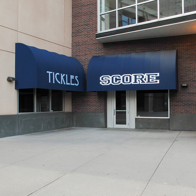 Tickles and Score, two downtown Minneapolis attractions.