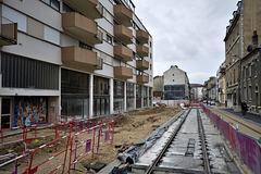 BESANCON: Travaux du tram: 2014.01.26 Avenue Fontaine Argent 05 .