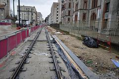 BESANCON: Travaux du tram: 2014.01.26 Avenue Fontaine Argent 07 .