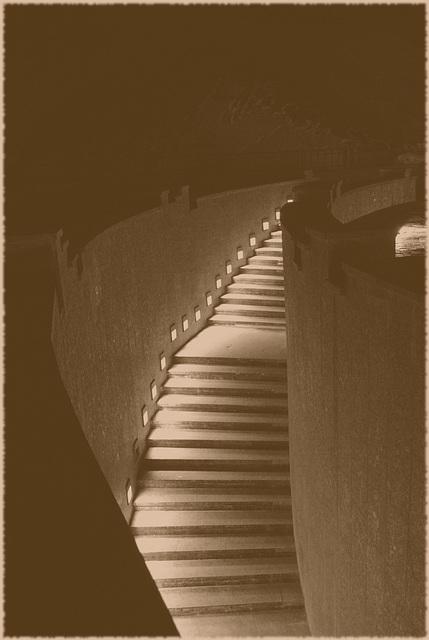 Treppe aus nirgendher in nirgendhin