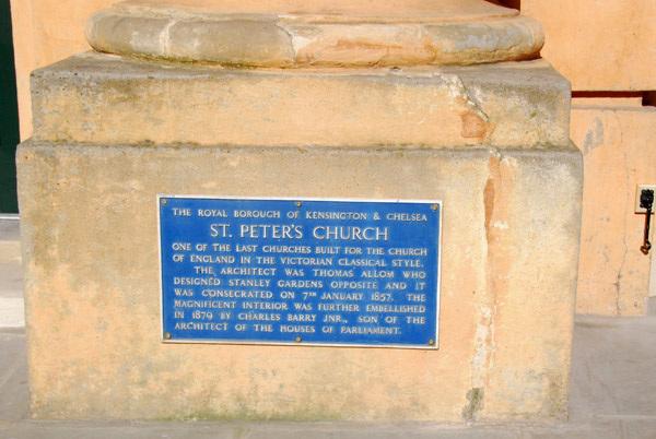 St Peter's Church plaque