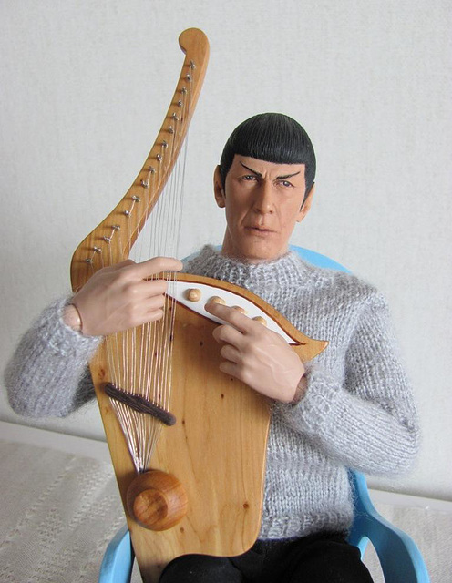 Spock and his harp