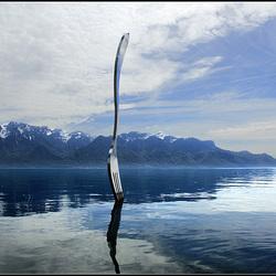 Une  Fourchette sur le lac (Leman)