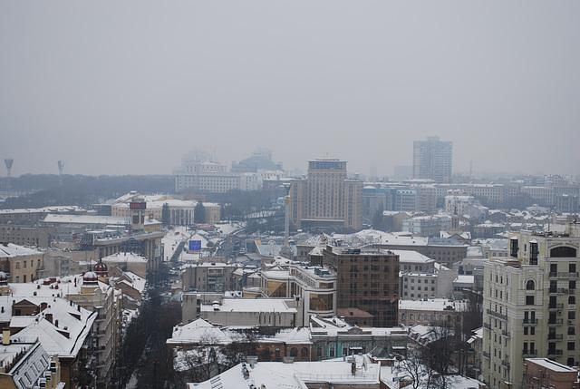 Zentrum des Kiew üben